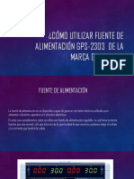 Cómo Utilizar Fuente de Alimentación GPS-2303 De