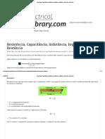 Resistência, Capacitância, Indutância, Impedância e Reatância - Electrical e-Library.pdf