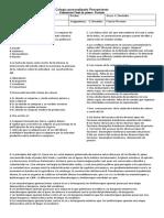 Evaluación de Ciencias Sociales Noveno Grado Primer Periodo Final