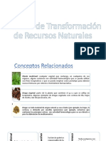 Técnicas de Transformación de Recursos Naturales.
