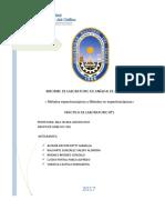Informe 2. Métodos Espectroscopicos y No