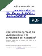 Confort Higrotérmico