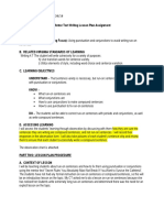 mentor text writing lesson plan final draft and reflection for portfolio