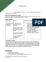 fruit loop probability lesson planfor portfolio