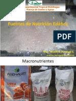 Fuentes de Nutrición Edáfica EELS 2018 1