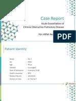Acute Exacerbation on Chronic Obstructive Pulmonary Disorder