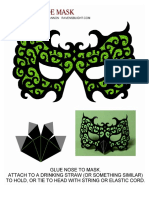Masquerade Mask Green