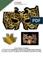 Masquerade Mask Gold