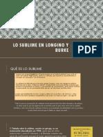 Lo Sublime en Longino y Burke