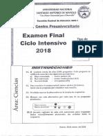 Cpu Unasam - Examen Final Ciclo Intensivo 2018 (Area a)
