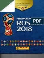ÁLBUM PARA EL PUEBLO PERUANO PANINI Mundial Rusia 2018 Oficial PARTE 1