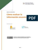 Cómo Evaluar La Información Encontrada