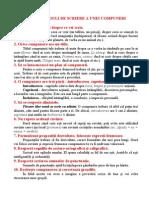 10 Reguli de Scriere a Unei Compuneri