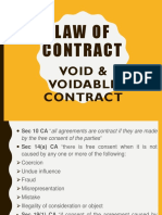 Topic 5 - Void &Amp; Voidable Contract