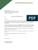 Certification of Camenorial Lot