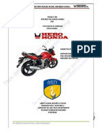 Porters Five Forrce Model for HERO HONDA