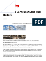 Intelligent Control of Solid Fuel Boilers - Power Engineering