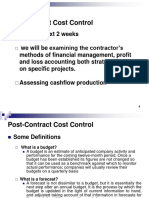Contractor PostContract Cost Control