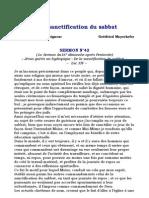 De La Sanctification Du Sabbat