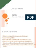 Plagiarism Dr.B.ravi