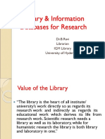 Library Databases-Dr B Ravi