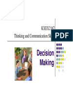 Notes- Decision Making