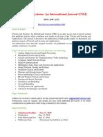 Circuits and Systems an International Journal CSIJ