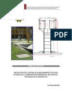 Instalación Del Sistema de Almacenamiento DeAlmacenamiento de Agua Potable