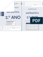 Avaliação de Matemática 2º ano
