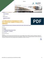 2. Los Recursos Intangibles Como Factores de Competitividad