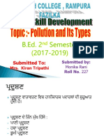 Science POLLUTION Punjabi
