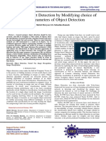 Effective Object Detection by Modifying choice of basic Parameters of Object Detection