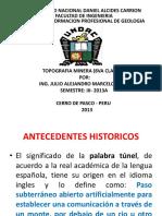 Diapositivas Top. Min. Tuneles (8va Clase) - 2013