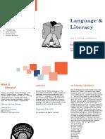 language and literacy rough draft