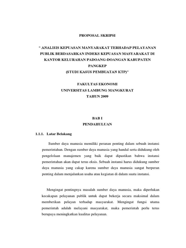 Latar Belakang Proposal Skripsi Manajemen Sumber Daya Manusia