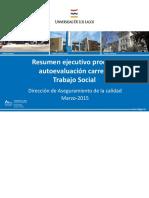 Resumen Ejecutivo 2015 Trabajo Social