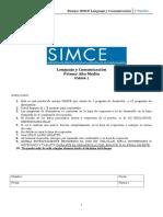 Ensayo SIMCE Lenguaje y Comunicación N°1 - 1° medio  Forma 1