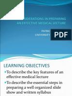 Preparing Medical Lecture