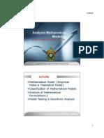 07 Analysis Mathematical Modelling