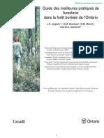Guide Des Meilleures Pratiques de Foresterie Dans La Foret Boreale de L_Ontario