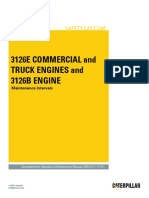 3126E Commercial and Truck Engines and 3126B Engine-Maintenance Intervals
