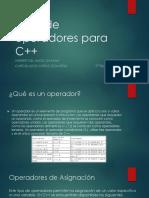 Tipos de Operadores Para C
