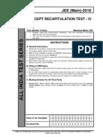 AITS Concept Recapitulation Test 4