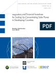 EMSB - Regulatory and Financial Incentives for Scaling Up Concentrating Solar Power in Developing Countries