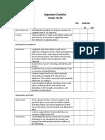 argument checklist  11 and 12