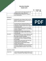narrative checklist  11 and 12