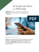 El Chat de Google Que Busca Destronar a WhatsApp