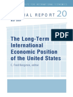 C. Fred Bergsten-The Long-Term International Economic Position of the United States (Peterson Institute for International Economics_ Special Report) (2009)