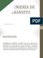 Clase 1 Transito