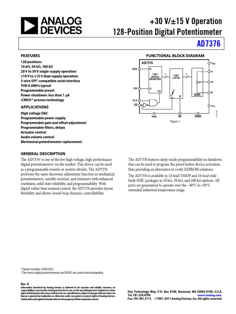 ad7376 resistor physical quantities
